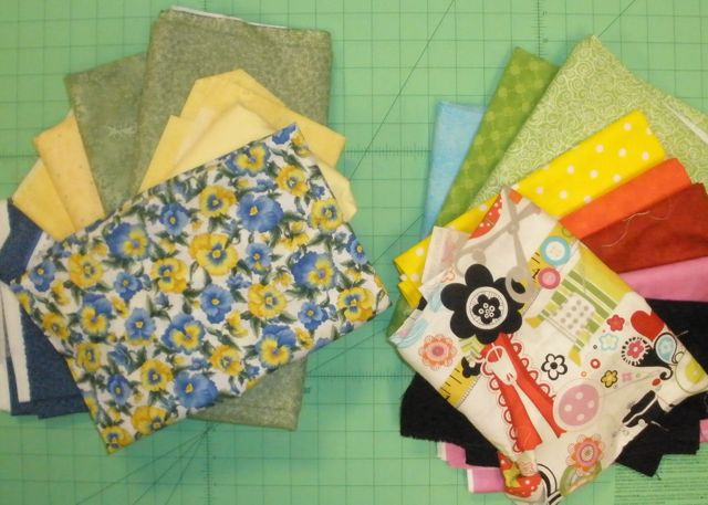 Quilt to Give sort fabrics Nancy Zieman