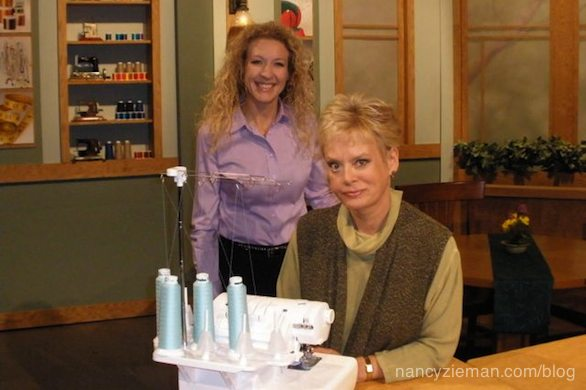 Behind the scenes of Sewing With Nancy Zieman Pam Mahshie