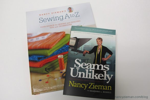Seams Unlikely autobiography of Nancy Zieman and Sewing A to Z by Nancy Zieman