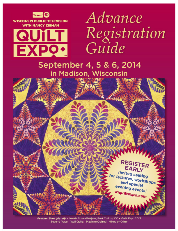2014 Quilt Expo Advance Registration Guide Cover