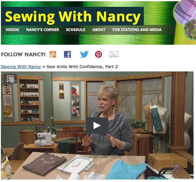 Sew Knits with Confidence Nancy Zieman Online TV show