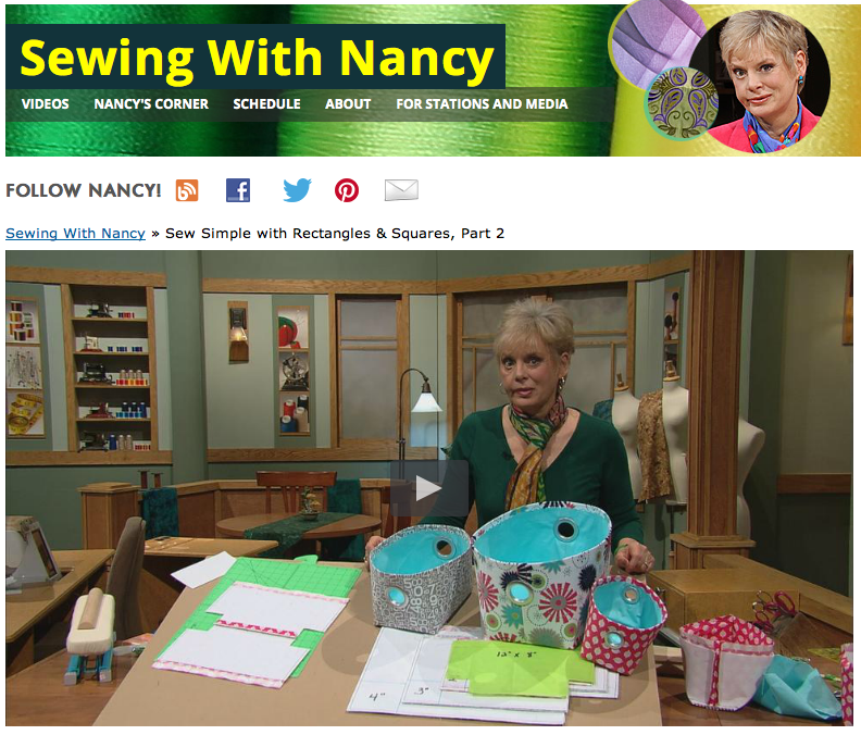 Sew Simple with Rectangles & Squares on Sewing With Nancy with host Nancy Ziema