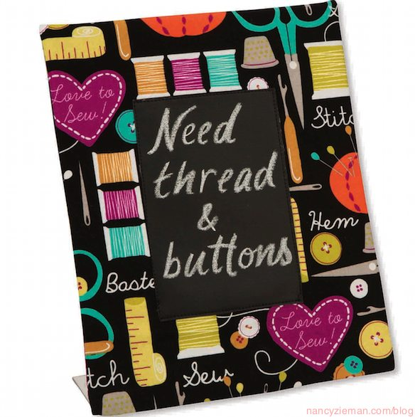 10 Sewing Tips for Using Chalkboard Fabric by Nancy Zieman