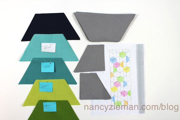 Quick Column Quilts by Nancy Zieman with Grandmother's One-Patch Quilt Template