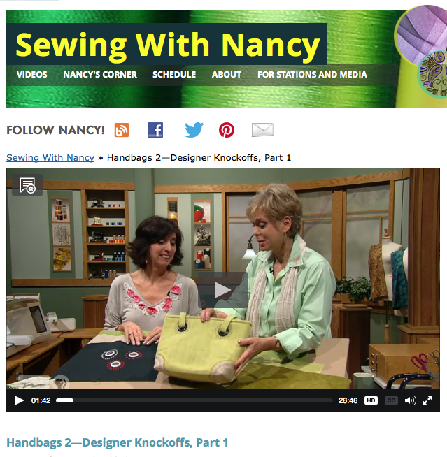 Handbags 2-Designer Knockoffs with Nancy Zieman and Eileen Roche Part One