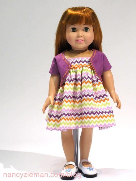 Nancy Zieman webcast November 22, 2014, featuring how to sew doll clothes