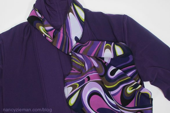 Nancy Zieman webcast November 22, 2014, featuring how to sew easy wraps and scarves