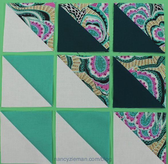 How to Make 1/2-square triangles by Nancy Zieman