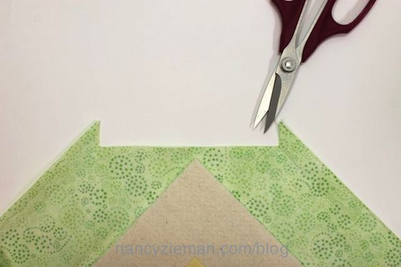 How to make mitered corners by Nancy Zieman of Sewing With Nancy
