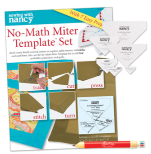 No Math Miter Template set as seen on Nancy Zieman's Blog