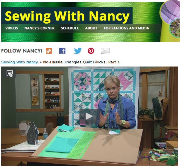 How to make 1/2-square triangles for quilting by Nancy Zieman