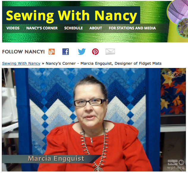 How to sew Alzheimer's Activity Mats as seen on Sewing With Nancy Zieman