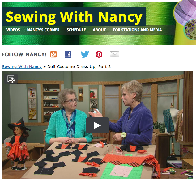 Watch Sewing With Nancy Online, Doll Costume Dress-up part 2