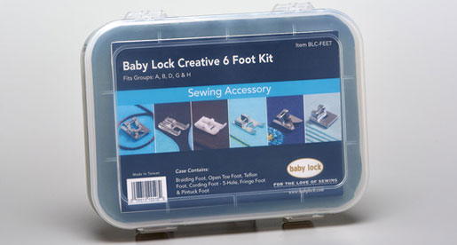 Baby Lock Creative Feet Assortment as seen on Nancy Zieman's Blog