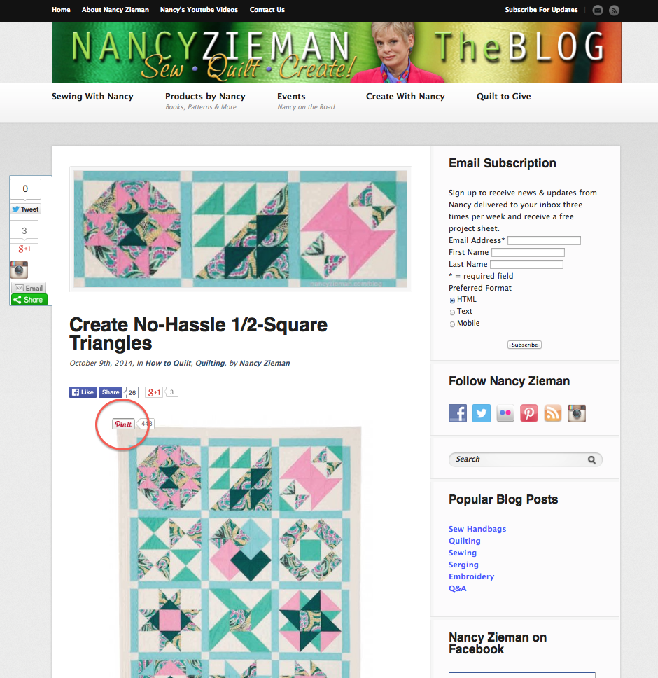 Nancy Zieman Blog Pin It Button