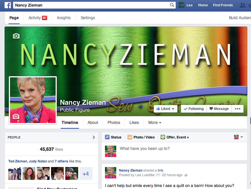 Nancy Zieman on Facebook