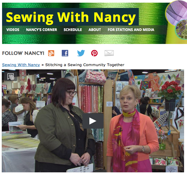 Sewing With Nancy Zieman at the Sewing & Stitchery Expo in Puyallup WA