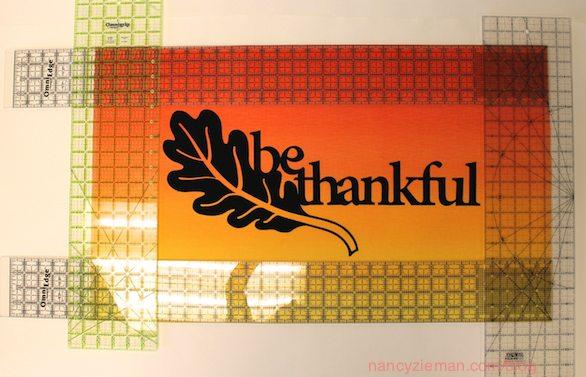 Laser-cut appliqués for Thanksgiving by Nancy Zieman
