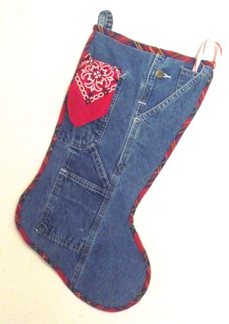 02 Jan C Denim and Bandana Christmas Stocking for Nancy Zieman Blog