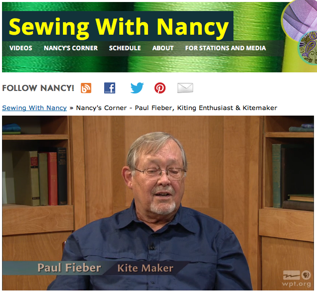 How to sew a kite by Paul Fieber & Sewing With Nancy Zieman