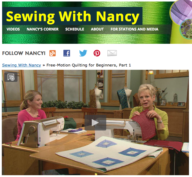 Free-motion Quilting for Beginners on Sewing With Nancy with guest Molly Hanson