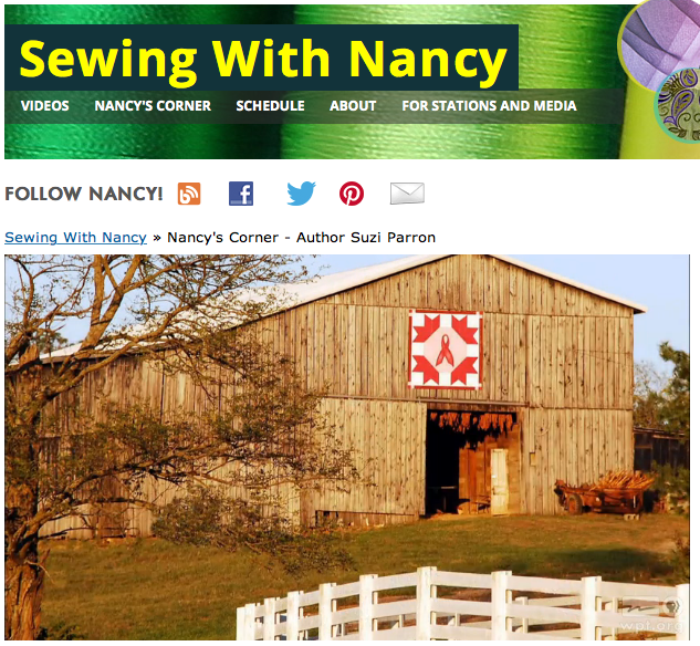 Barn Quilts as seen on Sewing WIth Nancy Zieman