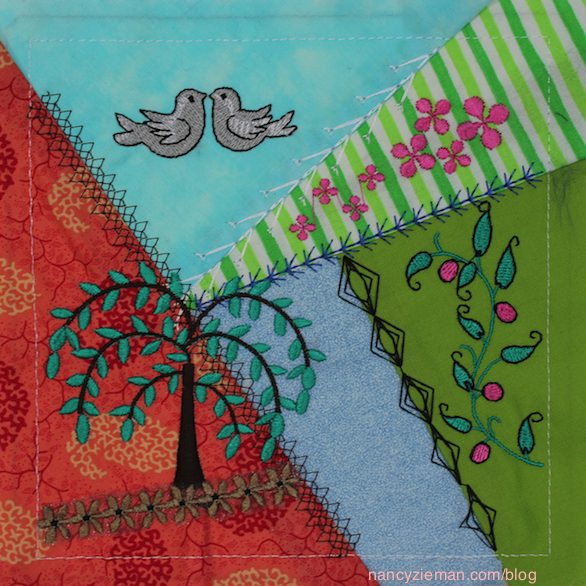 Today's Crazy Quilting with your Embroidery Machine as seen on Sewing With Nancy with guest Eileen Roche