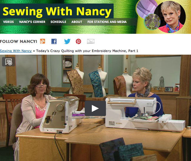 Today's Crazy Quilting with your Embroidery Machine Eileen Roche & Nancy Zieman
