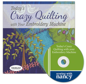 today's Crazy Quilting with Your embroidery machine by Eileen Roche as seen on Sewing With Nancy