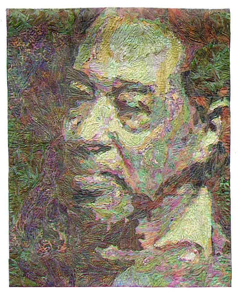 Duke Ellington by Tammie Bowser as Seen on Sewing With Nancy–How to Sew Art.