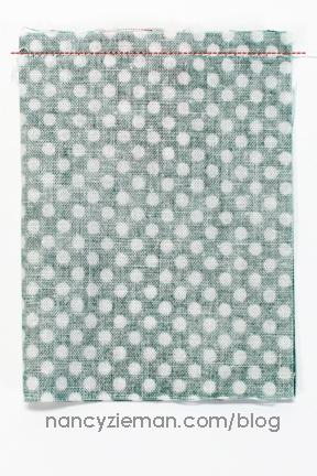 Sew Mini Fabric Sacks/Fabric Scraps/Nancy Zieman