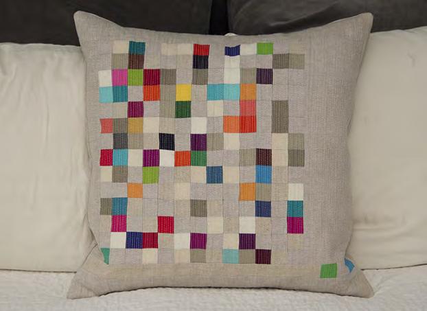 Pixel Pillow/Inspiration for Nancy Zieman's Pillow Challenge
