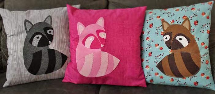 Racoons in Love Throw Pillows/Nancy Zieman's Pillow Challenge
