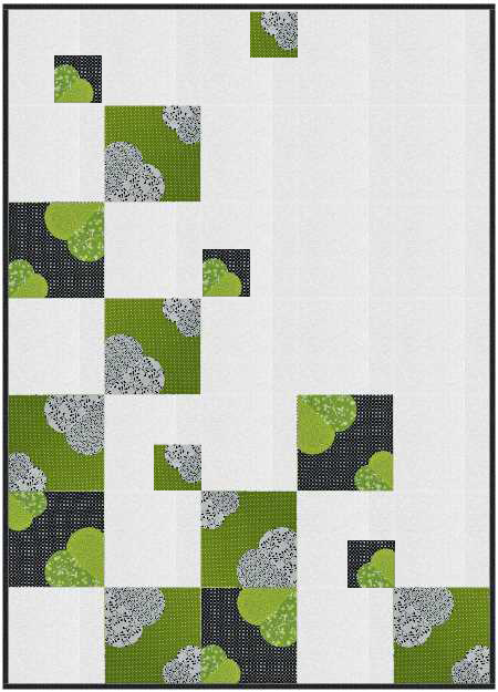 2015 Adventure Quilt Block of the Month by Nancy Zieman/Carefree Curves Template