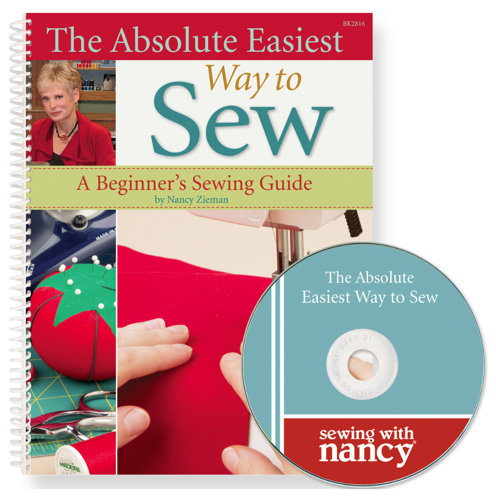 The Absolute Easiest Way to Sew Book and DVD by Nancy Zieman