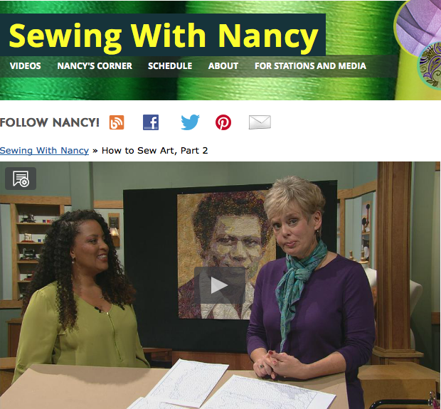 How to Sew Art Part Two on Sewing with Nancy with guest Tammie Bowser