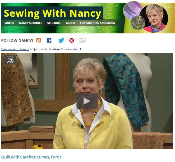 Sewing With Nancy/Nancy Zieman Carefree Curves