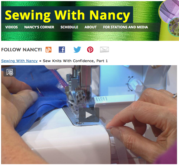 Sew Knits with Confidence Sewing With Nancy streaming video