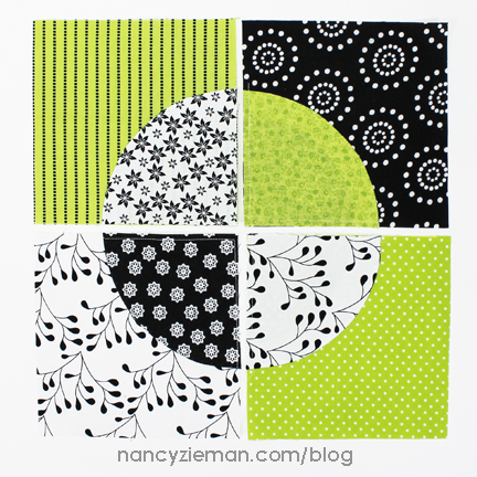 Nancy Zieman | March 2015 Block of the Month | Scrappy Quarter Circle