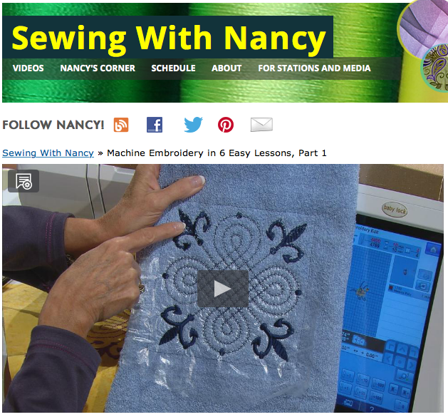 Machine Embroidery in six easy lessons Sewing With Nancy Zieman and Eileen Roche