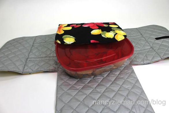 Nancy Zieman shares how to Make an easy Potluck Carrier