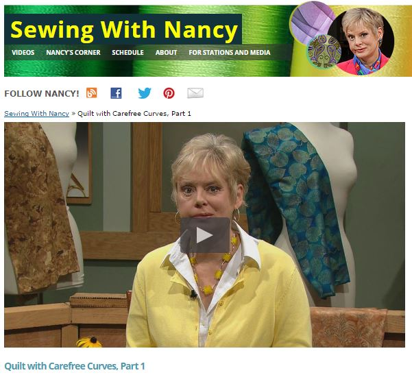 Sewing With Nancy | Nancy Zieman | How To Quilt with Carefree Curves Templates