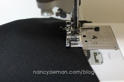 11 Topstitch Neck Arm Knit Dress Sew Along