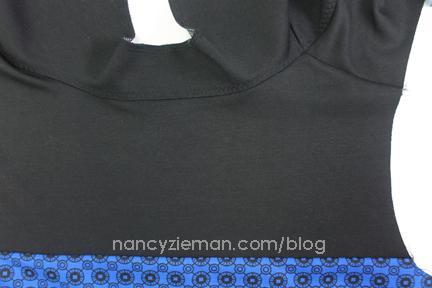 4a UnderstitchNeck Knit Dress Sew Along
