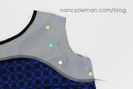 6 PinAssymFacing Knit Dress Sew Along