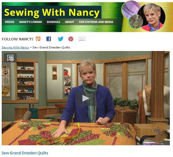 Sew Grand Dresden Quilts with Nancy Zieman
