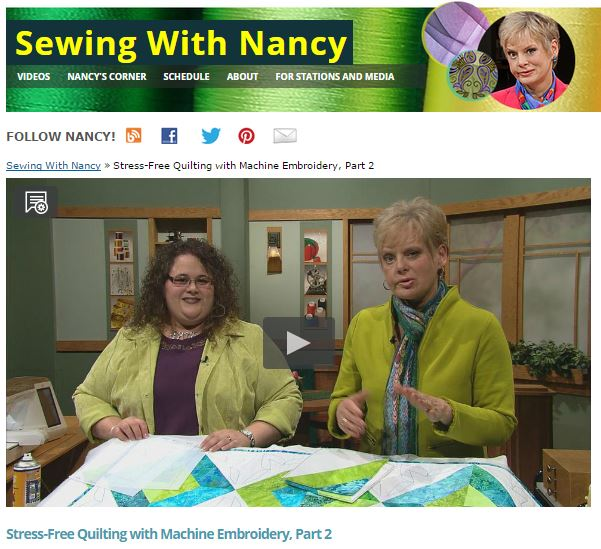 Stress Free Quilting with Machine Embroidery by Nancy Zieman