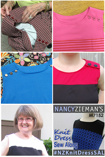 Knit Dress Photo Collage | Nancy Zieman | #NZKnitDressSAL