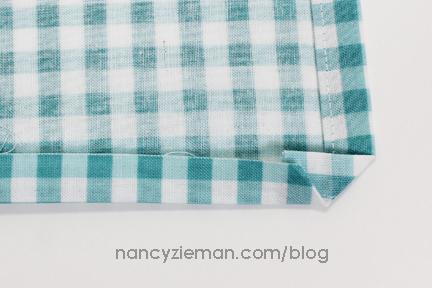 Mitered Napkin Nancy Zieman 8
