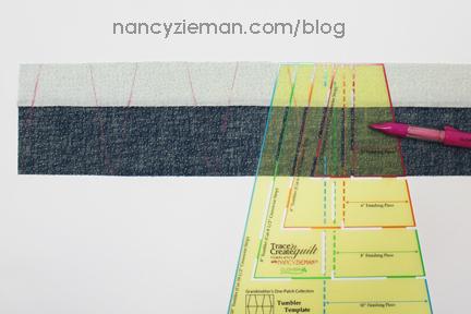 Nancy Zieman Linda Coon Tumbler Quilt blue3